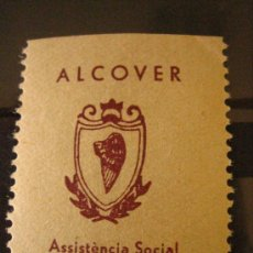 Sellos: SELLO ALCOVER, ASSISTÈNCIA SOCIAL, 5 CTS. Lote 4619157
