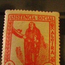 Sellos: SELLO ASISTENCIA SOCIAL, ALCIRA, 5 CTS. Lote 4620311