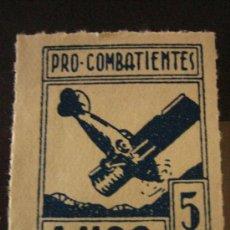 Sellos: SELLO PRO COMBATIENTES, LUGO, 5 CTS. Lote 4621487