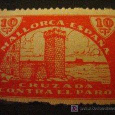 Sellos: SELLO CRUZADA CONTRA EL PARO, MALLORCA, 10 CTS. Lote 4639018