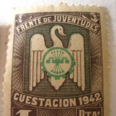Sellos: SELLO FRENTE DE JUVENTUDES, 1942. Lote 4647258