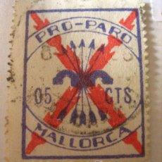 Sellos: SELLO PRO PARO, MALLORCA, 0'5 CTS. Lote 4651934