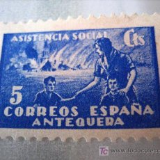 Sellos: SELLO ASISTENCIA SOCIAL, ANTEQUERA, 5 CTS. Lote 4672563