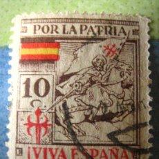 Sellos: SELLO POR LA PATRIA, VIVA ESPAÑA, 10 CTS. Lote 4677242