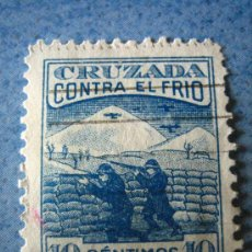 Sellos: SELLO CRUZADA CONTRA EL FRIO, 10 CTS. Lote 4677377