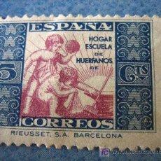 Sellos: SELLO HOGAR ESCUELA DE HUERFANOS DE CORREOS, 5 CTS. Lote 4679864