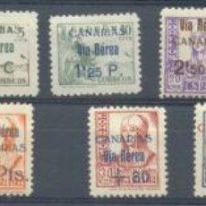 Sellos: CANARIAS EDIFIL Nº 44/51 SOBRECARGA CANARIAS VIA AEREA. Lote 22529051