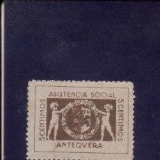 Sellos: ANTEQUERA. ASISTENCIA SOCIAL. 5 CTS.. Lote 5508759