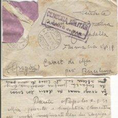 Sellos: CATA. CENSURA MILITAR. ARENYS DE MAR. 8-8-1939. GUERRA CIVIL ESPAÑOLA. ITALIA. NAPOLES. FARMACIA .. Lote 7425743