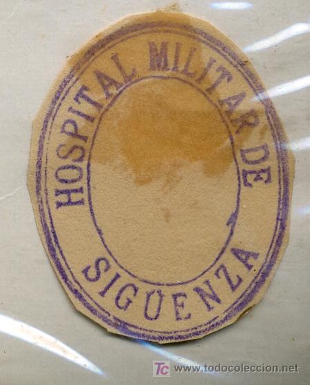 SELLO DE TINTA DE HOSPITAL MILITAR DE SIGÜENZA (Sellos - España - Guerra Civil - De 1.936 a 1.939 - Usados)