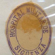Sellos: SELLO DE TINTA DE HOSPITAL MILITAR DE SIGÜENZA. Lote 172685378