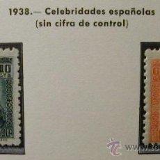 Sellos: ESPAÑA 1936-1938 CIFRA Y PERSONAJES 2 SELLOS SUELTOS EDIFIL Nº 732 Y 740. Lote 26191323
