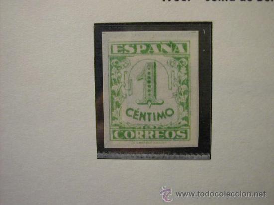 ESPAÑA 1936-1937 JUNTA DE DEFENSA NACIONAL - SELLO DE 1 CENTIMO EDIFIL Nº 802 (Sellos - España - Guerra Civil - De 1.936 a 1.939 - Nuevos)
