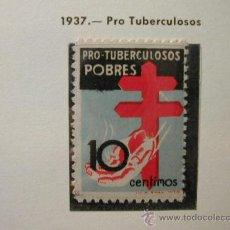 Sellos: ESPAÑA 1937 PRO TUBERCULOSOS 1 SELLO EDIFIL Nº 840. Lote 26191324