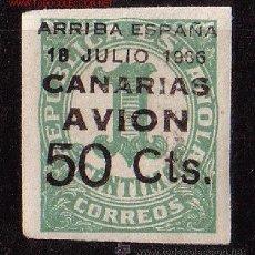 Sellos: CANARIAS 20*** - AÑO 1937 - SELLOS DE ESPAÑA HABILITADOS - NUMEROS. Lote 11313938