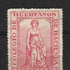 Timbres: 0396 HACIENDA COLEGIO DE HUERFANOS 1P. CON PIE DE IMPRENTA 0396. Lote 18283553