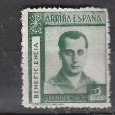 Selos: PIZARRA. ARRIBA ESPAÑA. BENEFICENCIA. 5 CTS.. Lote 9204837