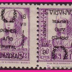 Timbres: EMISIONES LOCALES PATRIÓTICAS 1937 SANTA CRUZ DE TENERIFE Nº 29 HPHI * *. Lote 9207028