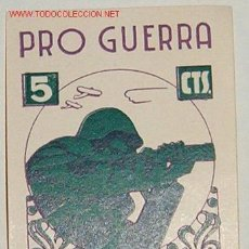 Sellos: PRO GUERRA, 5 CTS RODA. Lote 9175394