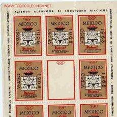Sellos: VIÑETA VERSO MEXICO 1968. Lote 1338528