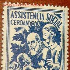 Sellos: ASSISTÈNCIA SOCIAL CERDANYOLA, 10 CTS. Lote 24098870