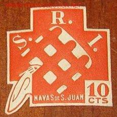 Sellos: SRI NAVAS DE SAN JUAN, 10 CTS. Lote 15013174
