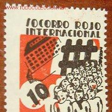Sellos: SOCORRO ROJO INTERNACIONAL, 10 CTS., PRO NIÑOS. REPÚBLICA. Lote 19619708