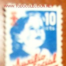 Sellos: AUXILIO SOCIAL, 10 CTS.. Lote 1573798