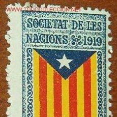 Sellos: SOCIETAT DE LES NACIONS, 1919 CATALUNYA LLIURE. Lote 11130576