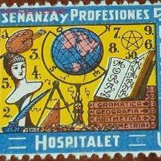 Sellos: SINDICATO DE LA ENSEÑANZA Y PROFESIONES LIBRES, HOSPITALET.. Lote 1573999