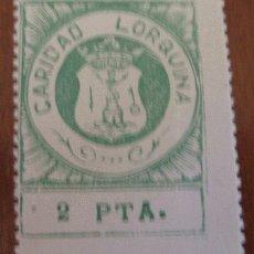 Sellos: CARIDAD LORQUINA, 2 PTS. Lote 1574551