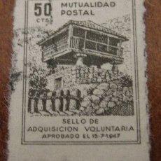 Sellos: MUTUALIDAD POSTAL, 50 CTS. Lote 1574703