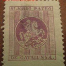 Sellos: SANT JORDI PATRÓ DE CATALUNYA. Lote 26126071
