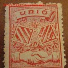 Sellos: UNIÓ CATALO-VALENCIANA. Lote 1583835