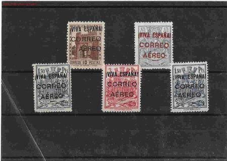 PRECIOSA SERIE PATRIOTICA (Sellos - España - Guerra Civil - Locales - Usados)