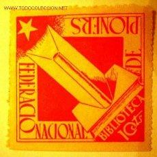 Sellos: FEDERACIÓN NACIONAL DE PIONERS. BBLIOTECA 10 CTS.. Lote 2199622