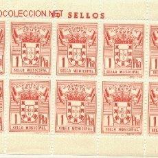 Sellos: 1 PLIEGO DE 10 SELLOS IGUALES DE CEUTA - 1 PTA (FOURNIER) (3). Lote 40612927