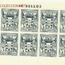 Sellos: 1 PLIEGO DE 10 SELLOS IGUALES DE CEUTA - 3 PTS (FOURNIER) (3). Lote 40612916