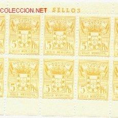 Sellos: 1 PLIEGO DE 10 SELLOS IGUALES DE CEUTA - 5 PTS (FOURNIER) (3). Lote 40612907