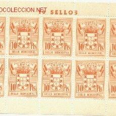 Sellos: 1 PLIEGO DE 10 SELLOS IGUALES DE CEUTA - 10 PTS (FOURNIER) (3). Lote 40612901