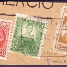 Sellos: ESPAÑA.(CAT.682,687, LOCAL 1). FRANQUEO. 5 CTS. MILICIAS POPULARES ALICANTE Y DOS SELLOS. MAGNÍFICO.. Lote 24351699