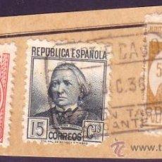 Sellos: ESPAÑA. (CAT. 683, 687, LOCAL 1). FRANQUEO. 5 CTS. MILICIAS POPULARES ALICANTE. MAGNÍFICO.. Lote 26767973