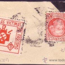 Sellos: ESPAÑA. (CAT. 687, VIÑETA SRI). FRANQUEO. 5 CTS. VÍCTIMAS DEL FASCISMO S.R.I. MUY BONITO.. Lote 26768509