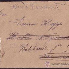Sellos: ESPAÑA.1937. SOBRE DE TENERIFE A LAS PALMAS. 30 CTS. Y LOCAL. MARCA CENSURA SANTA CRUZ. BONITA.. Lote 24310095