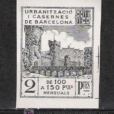 Sellos: 0146 BARCELONA URBANITZACIO I CASERNES 2 PTES. NEGRO SIN DENTAR. Lote 16533854