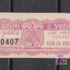 Sellos: C1-55 ETIQUETA, PRECINTO DE GARANTIA, PARA PAQUETE DE 250 GR. DE CAFE IMPORTACION TORREFACTO, NUEVA. Lote 23223366