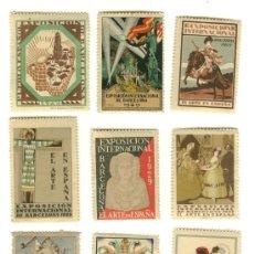Sellos: LOTE DE 9 VIÑETAS - EXPOSICION INTERNACIONAL BARCELONA 1929. Lote 26168814