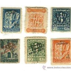 Selos: LOTE DE 6 SELLOS - AJUNTAMENT DE BARCELONA. Lote 15808502
