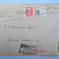 Sellos: SOBRE CON CARTA -CENSURA MILITAR ZARAGOZA-PORTUGALETE-1938 GUERRA CIVIL. Lote 11749870