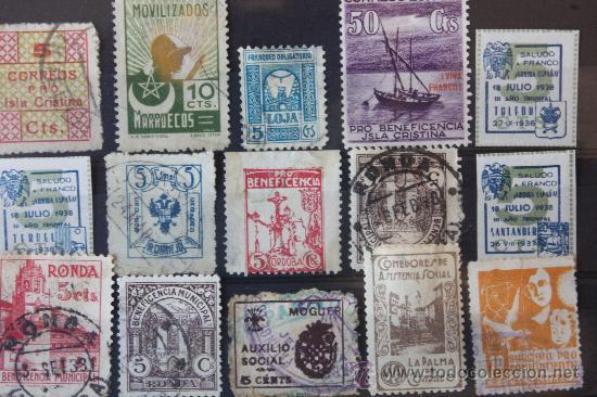 Sellos: Lote de 68 Viñetas Diferentes Municipios - Foto 4 - 11762442